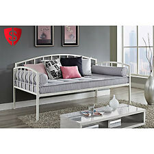 Twin Daybed Frame Size Metal Furniture Kids Living Room Guest Bedroom Adult