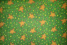 LINED VALANCE 42X12 CHRISTMAS GINGERBREAD MEN COOKIE DECORATING GREEN BAKING