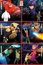 2014 DISNEY BIG HERO 6 GRID CHART HEROS POSTER PRINT 22X34 NEW FREE SHIPPING