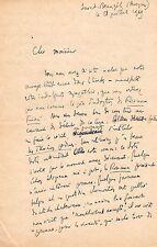 ALAIN PEYREFITTE / LETTRE AUTOGRAPHE (LES ROSEAUX FROISSÉS) 1949