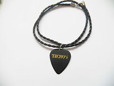 THE 1975 guitar pick plectrum braided twist LEATHER NECKLACE 20""