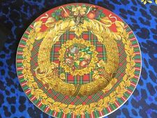 VERSACE CHRISTMAS PLATE YULETIDE CHEER 2006 ROSENTHAL RETIRED NEW SALE 18cm