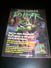 IRON MAIDEN - ED HUNTER promo sticker EMI cm. 15x21