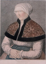 Hans Holbein and his Wife TWO Exceptional Early 19th Century Stipple Engravings