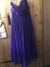 "Stunning Purple Bustier Dress Size 24 Chest 46"" By Romantica Special Occasion"