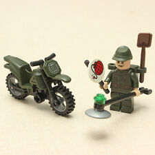 Enlighten Mine Detection Soldier Motorcycles Mine Clearance Blocks Toy