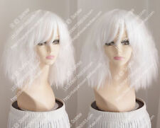 new wig white short curly hair fluffy fashion girl wigs costume party wigs
