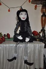 NEW LUXE HABITAT WITCH Wicca Prim Style Cloth Doll Halloween Primitive Folk Art
