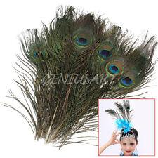 12x Piume Pavone Naturale Occhio per Art Ornamento Mascherata Abbigliamento