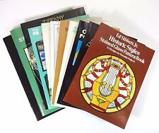 Lot (11) STAINED GLASS DESIGN Tiffany Windows Panels Templates Masterpieces