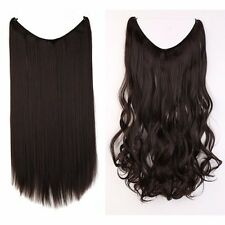 """US Secret Wire in Hair Extensions Invisible As Human Hairpiece Long Wavy 20"""" New"""