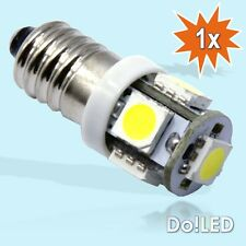 SMD LED E10 Lampe Schraubgewinde 6V Volt Xenon Weiss Fahrrad Moped Mofa Oldtimer