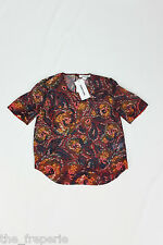 *ELIZABETH & JAMES* PIPER PRINTED SILK TOP UK 8