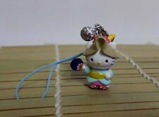 Hello Kitty Cosplay Traditional Folk Art Fan Dancing Girl Cell Phone Charm