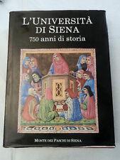 L'UNIVERSITA' DI SIENA 750 Anni Di Storia Libro Rivista Monte Paschi Siena