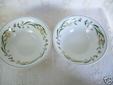 "Lot 2 Casa Mia ALLORO China Floral 7"" Soup Vegetable Bowl Plate"