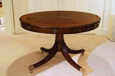 48 inch Round Formal Duncan Phyfe Rosewood Dining Table with Drawers, Drum Table