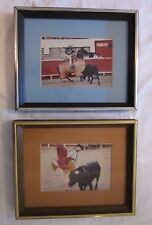 "Bullfighting Pictures Framed & Matted Photographs Spain 9¼"" x 11½"" Matador"