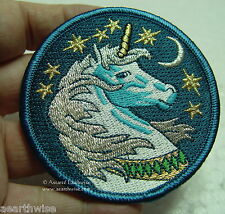 UNICORN IRON ON CLOTHING PATCH Wicca Pagan Witch Goth MYTHICAL