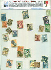 Portuguese India (25 Different Medium and Small)-STAMP PACKET