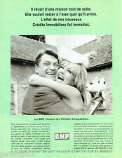 PUBLICITE ADVERTISING 056  1997 BNP Paribas banque Jean Maraist Mylène Demongeot