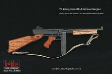"TI-LITE WWII US Metal & Wood Thompson M1A1 Submachine Gun 1/6 Fit for 12"" Figure"