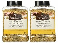 Set of Two: Farmer Brothers Steak Seasoning (No MSG Added) 1.75 LB each #141420