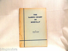 The Labor Court In Norway 2 1952 Copies