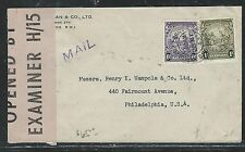 BARBADOS (P2706B) 1943  SEA HORSE 6D+1/-  ON CENSORED COVER TO USA