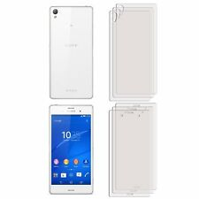 3 FRONT +3 BACK Clear LCD Screen Protector Film Foil Saver For Sony Xperia Z3