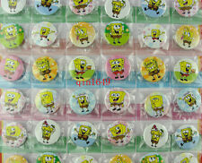 1 Sheet 48Pcs Spongebob Badge 30MM Button Pin Children Patry Gift Wholesale
