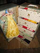 Vintage Cissy Travel Trunk with Various Clothing Items