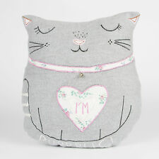 Vintage Cat Cushion Shabby Chic Animal Scatter Pillow & Inner by Sass & Belle