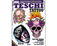 200 TESCHI Skulls Tattoo Flash Design Book 66-Pages Sketch Artist Shop Supply