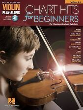 Chart Hits Violin Sheet Music with Backing Track ~ John Legend, One Direction ~