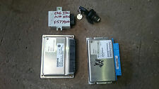 BMW E46 330i M54 AUTO ENGINE ECU, EWS BOX ECU, IGNITION LOCK AND DOOR LOCK