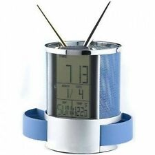 Digital Alarm Table Clock Pen Holder Stand