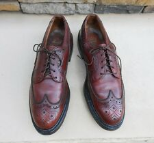 Vintage Hanover Imperial Wing tip Pebbled Leather Lace-Up Oxford Shoes Size 7.5