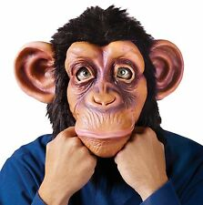 Chimp Mask Adult Humorous Funny Deluxe Comical Chimpanzee Monkey Gorilla