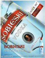 PUBLICITE ADVERTISING 095  2008  La VODKA PURE POLONAISE  SOBIESKI