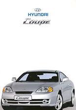 Hyundai Coupe Prospekt 12/01 car brochure Autoprospekt Auto Pkw Asien Korea 2001