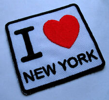 I LUV LOVE NEW YORK NY USA SIGN LOGO Embroidered Iron on Patch Free Postage
