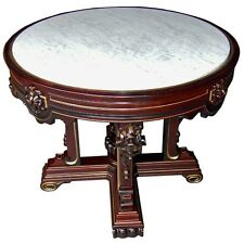 Renaissance Revival  Center Table with Inset Marble Top #6790