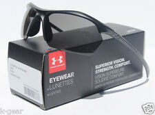 UNDER ARMOUR Zone XL Sunglasses Satin Black/Gray NEW Sport/Cycle $80