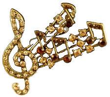 Musicale Nota Spilla Chiave Di Violino Pentagramma Antico Color Oro