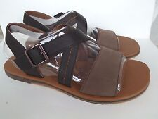 UGG Mens Tustin Leather Sandals Grizzly Brown Size 12US New In Box
