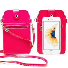 Rose PU Leather Cross-body Shoulder Mini Cell Phone Bag For Apple iPhone 6s Plus