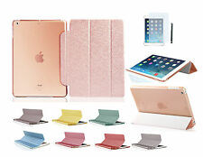 Ipad Air 2 funda con diamantes de imitación, funda protectora Ipad 6 bling Smart Cover bolsa estuche diapositiva