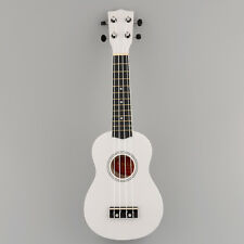 Mini 21'' Soprano Ukulele 12 Frets Instrument Hawaiian Style Guitar White