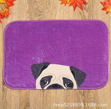 Purple Dog Pug Home Decora Area Rug Carpet Bathroom Floor Dining Room 40*60cm